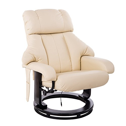 Homcom Massagesessel 700-008CW mit Heizfunktion inkl. Hocker Creme - 2