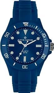 Alpha Saphir Unisex-Armbanduhr 370W, 40 mm blau