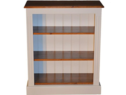 Compare Prices for Heartland Pine 100% Solid Wood Bookcase; 3ft x 30″ White Painted & Lacquered Adjustable Display Shelving Unit, Bookshelves. No flat packs, No assembly (BK01-PL) on Amazon