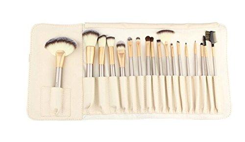 Contever ® Kabuki Bürsten 18 Stück Make Up Pinselset Kosmetik Foundation Eyeliner Lidschatten groß puderpinsel Makeup Mischen erröten Pinsel + PU Tasche