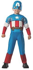 Avengers - Disfraz de Capitán América Deluxe para niños, infantil talla 1-2 años (Rubies 620018-T)
