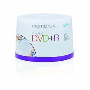 Memorex M00573 Premium Printable DVD+R Rohling 4.7GB 16x Speed (50 Stück) in Cakebox bedruckbar