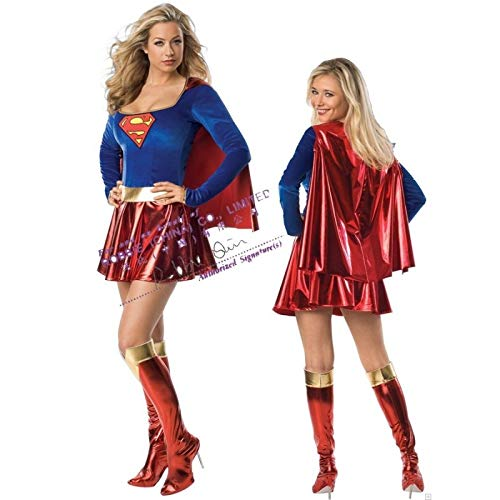 Kostüm Supergirl Erwachsenen Für Frauen - Fashion LeGastronomeSexy Supergirl - Sexy Superheldinnen-Kostüm für sexy Frauen - Einheitsgröße (S/M)