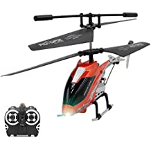 Remote Control Helicopter 2.4Ghz - Race 2 or More Together - 3.5CH Channel Gyro Helicopter with LED Search Light - Mini Indoor IR Radio Remote Control Helicopter for Kids (Colour May Vary)