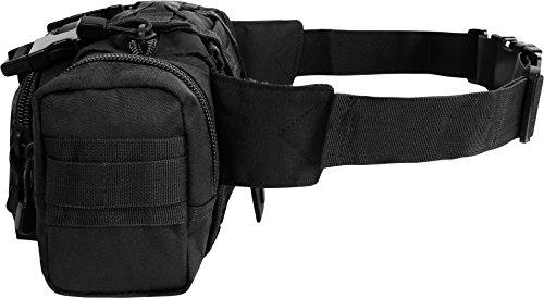 Gürteltasche Hüfttasche mit Molle-Aufnahme-System Schwarz