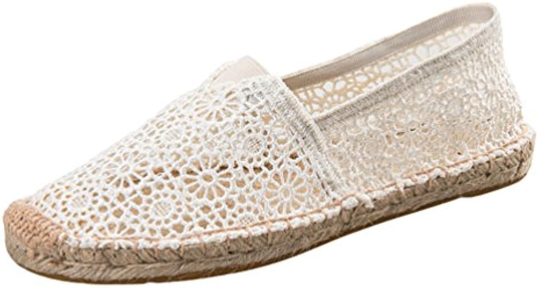 Dooxii Mujer Ocasionales Antideslizante Loafer Zapatos Moda Cordón Planos Alpargatas