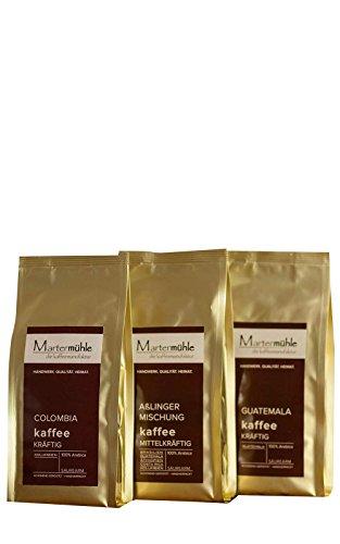 Kaffee Probierset 3x250g - Premium Kaffee Von Der Kaffeerösterei Martermühle: Kaffeebohnen Arabica...
