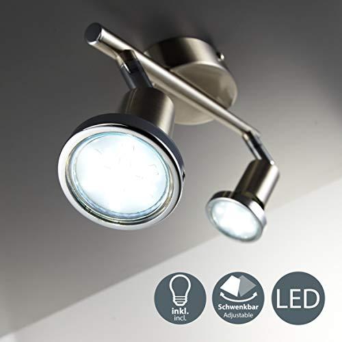 Lámpara de techo con focos giratoria incl. 2 x 3W bombillas LED...