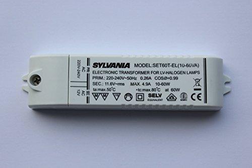 Rolux SET60-T-EL (2-60VA) max 60 Watt Elektronischer Halogen Trafo Mini-Format - 60 Va Elektronische