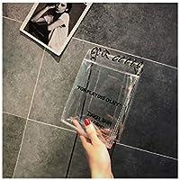 AGOPO Mode Bolso de Hombro de la Cadena de la Jalea Bolsos cosméticos Transparentes Transparentes del PVC del totalizador de la natación a Prueba de Agua (Transparente) para niña Dama