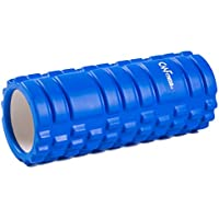 Rodillo de Espuma Foam Roller para Músculos y Masajes de Tejidos Profundos Perfecto para aliviar el dolor Pilates Yoga y Gimnasio Ligero 33cm x 14cm CM Fitness (Azul)