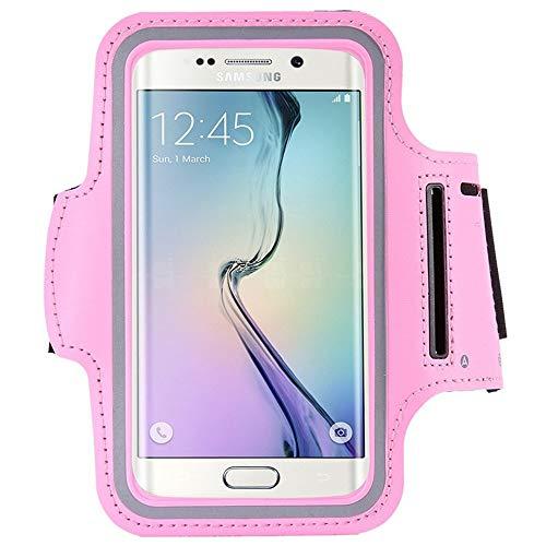 Mobile-edge-pink Handtasche (Guomvp Sport Armband case für iPhone 7 Plus 8 xs Halterung für Huawei case an Hand Smartphone handys Handtasche sportschlinge für Handypink)