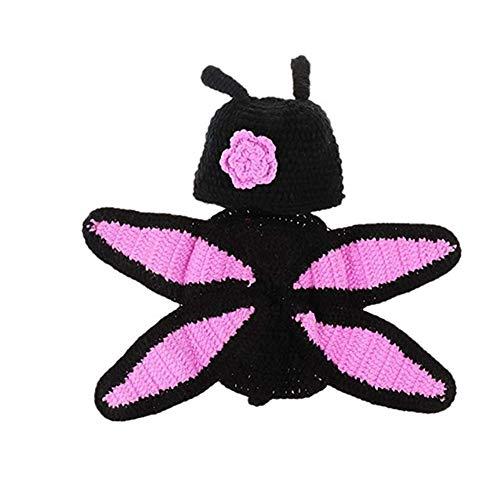 WESEEDOO Süße Kostüme Für Fotografie Newborn Stricken Häkeln Sie Baby Fotoshooting Schmetterlingskostüm Black (Zukunft Erinnerungen Kostüm)