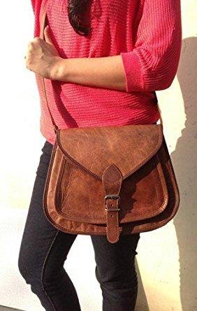 Leather bags Women's Leather Shoulder Handbag Messenger Bags Satchel Tote Purse Bags 13″