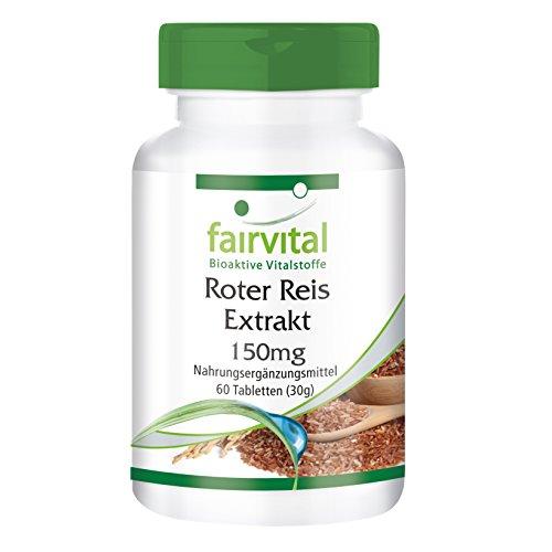 Roter Reis Extrakt 150mg - für 2 Monate - VEGAN - 60 Tabletten - 4,5mg Monacolin K
