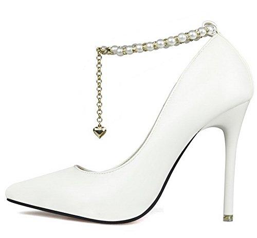 Di Materiale Penna Della Scarpe Bianche Di Colore Donna Ageemi Luce Sottolineato Solido Flessibile Scarpe gioiello qwnWwxXZtB