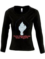 Camiseta Hora de Aventuras -Marceline cara- de chica manga larga (Talla: TALLA-S)