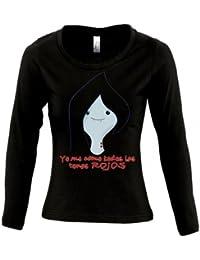 Camiseta Hora de Aventuras -Marceline cara- de chica manga larga (Talla: TALLA-XL)