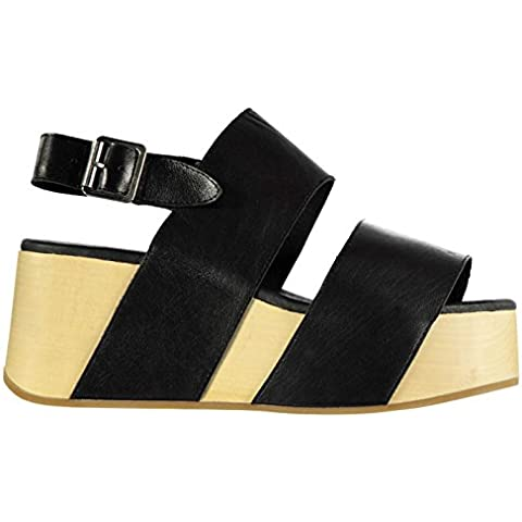Jeffrey Campbell Atado Wedge Sandali Scarpe calzature da donna nero,
