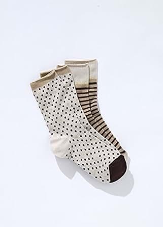 SOMEWHERE 2 paires chaussettes femme à motif fantaisie fil brillant, E - 4314757