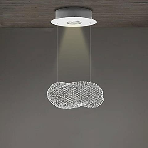 Maniny Designer'S Lamp Nordic Creative Metal Ceiling Lamp Cafe Dining Hand Woven Aluminium Silk Baiyun Chandelier Minimalist LED Children Room Cloud Pendant Lights , medium