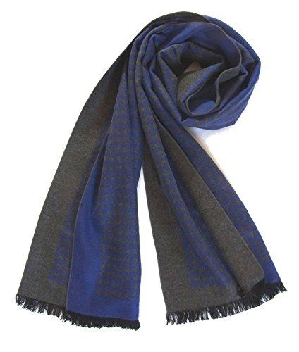Schal 100% Seide Flanell Fleece Flauschig 180X30 cm warm dick SC-S-CDF-1308F (Flanell-schal)