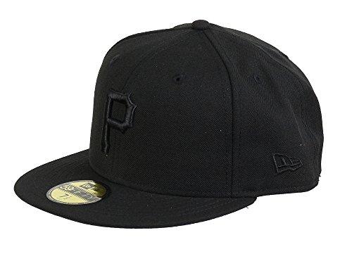 New Era Pittsburgh Pirates 59fifty Basecap Mlb Black On Black - 7 3/4 - 62cm