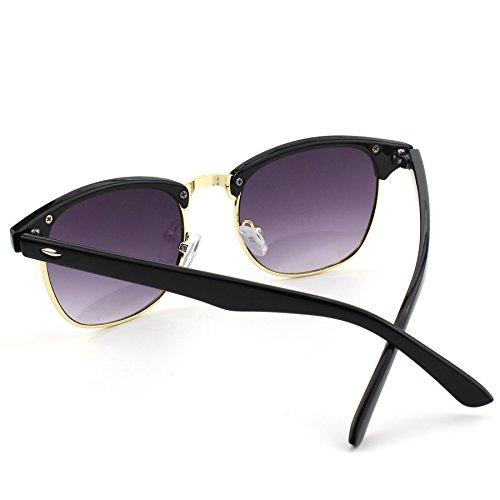 Rimless Clubmaster Glasses : CGID CN56 Premium Clubmaster Inspired Half Frame Horn Semi ...