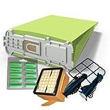 12 Staubsaugerbeutel geeignet für Vorwerk Kobold 135, 136 grün, Hepafilter, Motorschutzfilter, Rundbürsten , Duft von Staubbeutel-Profi