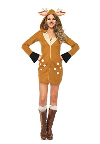 Sexy Hirsche Kostüme (,Karneval Klamotten' Kostüm Hirsch Dame Luxus Karneval Tier Damenkostüm Größe)
