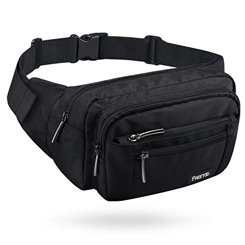 41fN9hvXhcL. SS500  - FREETOO Large Bum Bag 32.7 to 45.3 Inch Size Waist Travel Pouch Fanny Pack with 6 Zipped Pockets Ideal For Hiking Travel Holidays Festivals