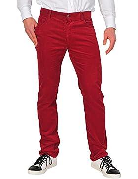 Zegna Sport Pantalón Hombre 32 Rojo algodón normal Corte recto