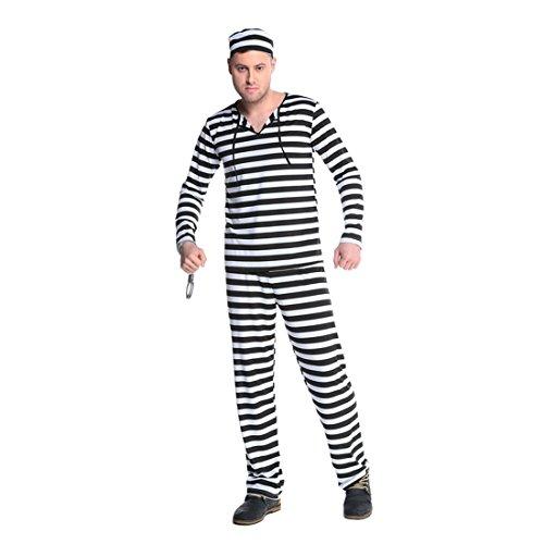 JTENGYAO Damen & Herren Paar Kostüm Halloween Gefangener Party Weihnachten (Gefangener Halloween Kostüme)
