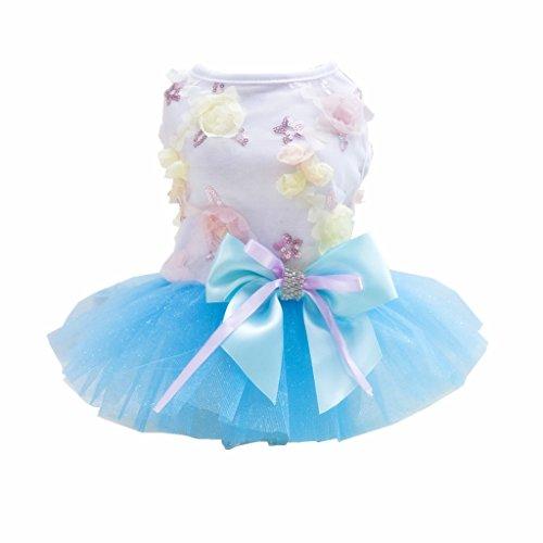 Imagen de magideal vestido de mascotas estilo de princesa con bowknot falda de perros ropa de fiesta de disfraz para animal doméstico  m