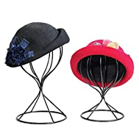 Hollow Balloon Head Stand Model Metal Wig Hairpiece Stand Tabletop Decorative Hat Cap Holder
