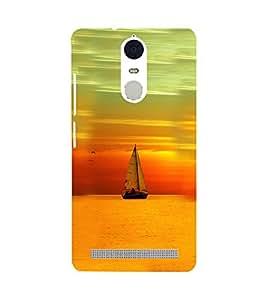 Printvisa Boat Sailing At Sunset Scenery Back Case Cover for Lenovo K5 Note