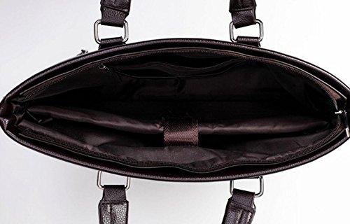 ee65968383a36 ... Männer Handtasche Horizontale Schultertasche Messenger Bag Business  Aktentasche Computer Taschen Handtasche Brown