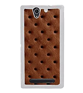 Chocolate Biscuit 2D Hard Polycarbonate Designer Back Case Cover for Sony Xperia C3 Dual :: Sony Xperia C3 Dual D2502