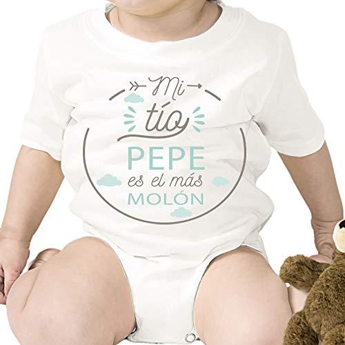 Regalo personalizado: body para bebé 'Tío Molón' personalizado con