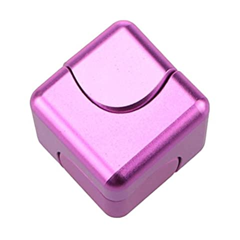 Fidget Spinner, Oyedens Cube Rubik Spinner Fidget Hand Spinner Toy Pour Adultes Enfant Stress Relief Spinner à main Fidget Toy Focus Anxiety Toys for Killing Time (Rose Vif)