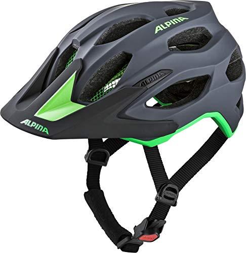 Alpina Unisex- Erwachsene CARAPAX 2.0 Fahrradhelm, charcoal-green, 52-57 cm
