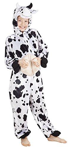 Kind Kuh Kostüm - B88002-140 Kuh Kostüm Overall Kinder Mädchen Junge Gr.140