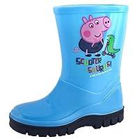 Kids Boys Girls Peppa Pig George Wellington Boots Wellies Boots Size UK 4-10