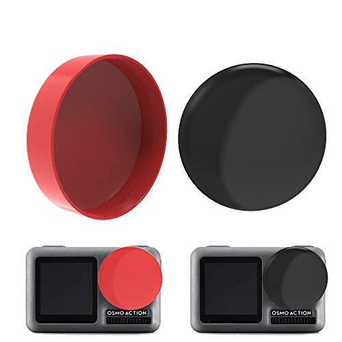 eliaSan Toy 2PC schützende Silikon Kamera Objektivdeckel Cover Guard für DJI Osmo Action Kamera -