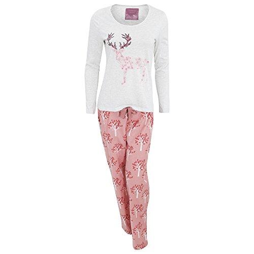 Foxbury - Ensemble de pyjama imprimé - Femme Gris clair/Rose