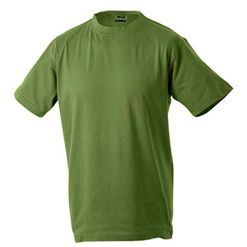 JAMES & NICHOLSON Kinder Komfort-T-Shirt aus hochwertigem Single-Jersey Olive