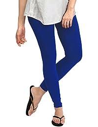 Dream Fashion Cotton Lycra Royal Blue leggings For Women's