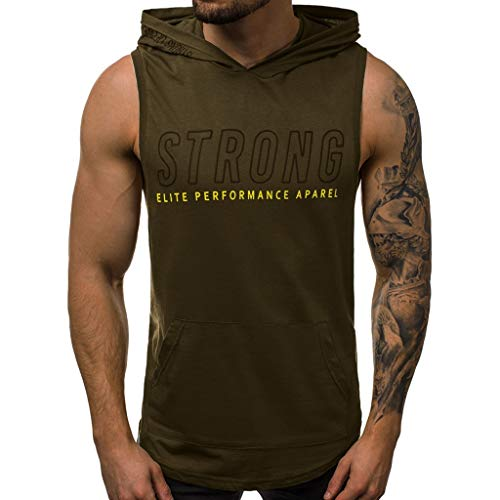 Beonzale Herren Fitness Muskeldruck Ärmelloses Bodybuilding trocknende Weste Tops Blusen Diverse Farben auswählbar Reine Farbe Tailored Tank top