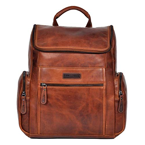 Hill Burry Rucksack Daypack Freizeittasche Rucksackhandtasche Ledertasche Outdoor Rinds-Leder
