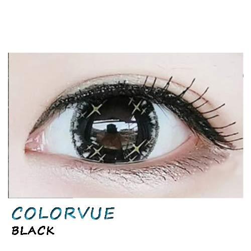weiche Farblinsen Kontaktlinsen farbig + Behälter 1 Paar (2 Stück) ohne Stärke I 0.00 Dioptrien COLORVUE BLACK
